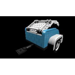 BOC-BB Gepäckwagen Anhänger Blau add-on für LEGO® 10252 VW Käfer